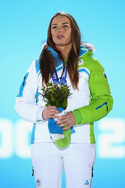 Slovenia's Gold Medalist Tina Maze is amazing
