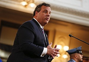 New Jersey Gov. Chris Christie delivers his budget address