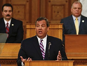 Gov. Chris Christie delivers his budget address