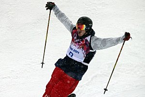 David Wise of the USA wins the gold medal during the Freestyle Skiing Men's Halfpipe at the Rosa Khutor Extreme Park