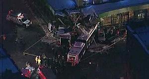 MTA bus slammed into a building in New York's Greenwich Village