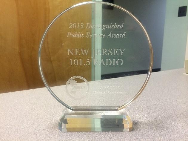 NJ1015 Award from the NJSEA