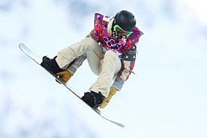 Shaun White of the United States competes in the Snowboard Men's Halfpipe Qualification Heats