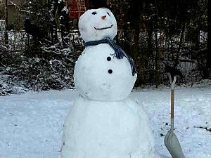 A snowman in Howell
