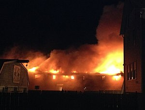 Fire at Mariner's Cove Motel in Point Pleasant Beach