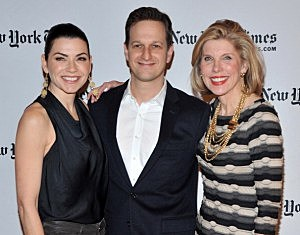 Julianna Margulies, Josh Charles, and Christine Baranski