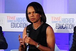 Former US secretary of the State and professor Condoleezza Rice