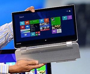 A Lenovo 2-in-1 laptop
