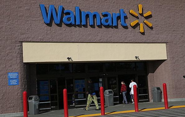 Walmart entrance in California