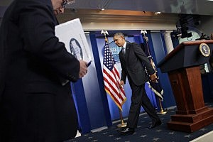 President Obama Delivers Statement On Ukraine In Brady Briefing Room