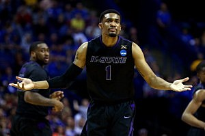 Shane Southwell #1 of the Kansas State Wildcats
