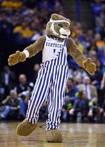 The Kentucky Wildcats mascot