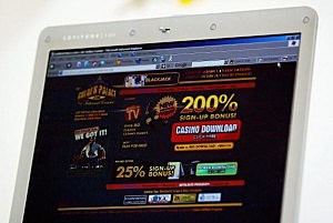 A casino's websites on the internet