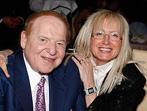 Chairman of Las Vegas Sands Corp., Sheldon Adelson, with his wife Dr. Miriam Adelson