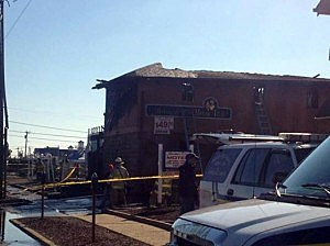 Mariner's Cover Motor Inn in Point Pleasant following a fire