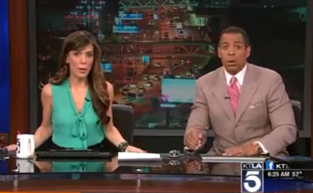 See KTLA Reporters React to Earthquake
