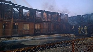 Mariner's Cove Motor Inn in Point Pleasant Beach following a fire