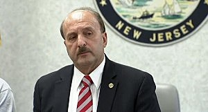 Ocean Count Prosecutor Joseph Coronato listens to a question at a press conference about the fire at the Mariner's Cove Motor Inn in Point Pleasant Beach