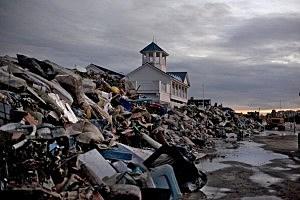 Sandy debris