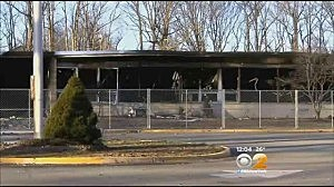 Burned out James Monroe Elementary School in Edison