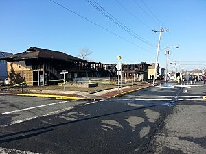 Mariner's Cove Motor Inn in Point Pleasant Beach following a fire.