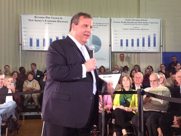 Gov. Chris Christie in Flemington
