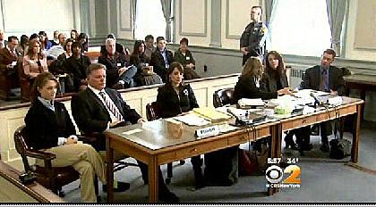 (L-R) Rachel Canning, John Inglesino, Rachel's attorney, Sean & Elizabeth Canning, attorney, Elizabeth Canning, Sean Canning