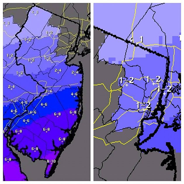 Snow accumulations expected for Monday