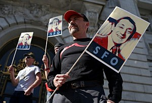 Rally Held In Support Of Renaming San Francisco Int'l Airport After Gay Rights Leader Harvey Milk