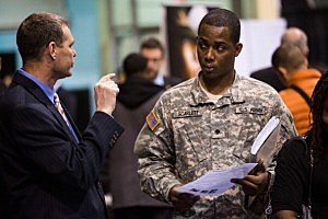 Job Fair Held For Veterans At New York's Lexington Avenue Armory