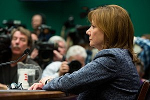 General Motors CEO Mary Barra prepares to testify before the full House Energy and Commerce committee
