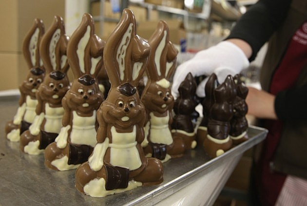 Chocolate Easter Bunny Production