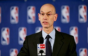 NBA Commissioner Adam Silver holds a press conference to discuss Los Angeles Clippers owner Donald Sterling
