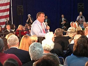 Gov. Chris Christie at his town hall session in Somerset