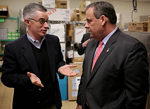 Former Gov. Jim McGreevey and Gov. Chris Christie