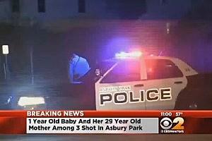 Asbury Park Police respond to shooting (CBS New York)