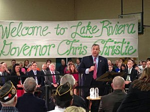 Gov. Christie holds a town hall at Lake Riviera Middle School in Brick