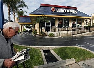 Burger King restaurant in Los Angeles