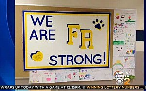 A sign of support at Franklin Regional High School