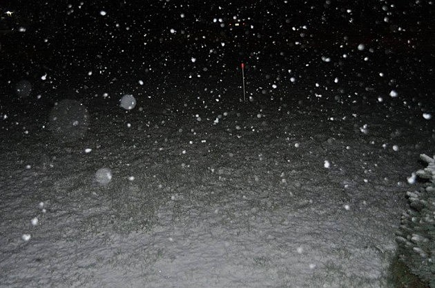 Snow falls in Jackson