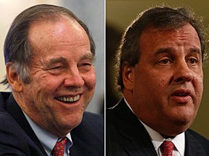 (L-R) Thomas Kean, Chris Christie