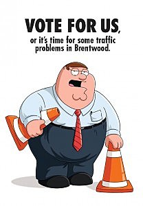 """Peter Griffin from """"Family Guy"""" in a mail piece seeking Emmy votes"""