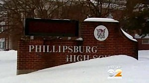 Outside of Phillipsburg High School (CBS New York)