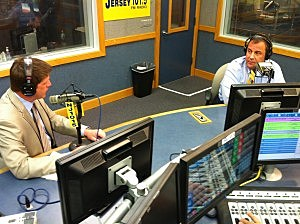 Gov. Chris Christie in studio with Eric Scott for Ask the Governor
