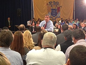 Governor Christie - Brick town hall