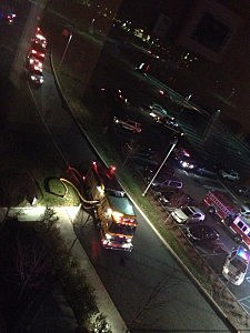 Fire and rescue at University Medical Center of Princeton in Plainsboro