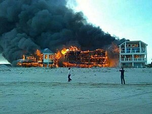 Fire burns in Sea Isle City