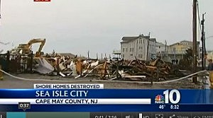 Crews tear down remnants of Sea Isle City homes destroyed by fire.