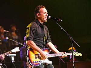 ruce Springsteen performs during The Musical Mojo of Dr. John: A Celebration of Mac & His Music at the Saenger Theatre on May 3, 2014 in New Orleans, Louisiana.  (Photo by Skip Bolen/Getty Images for Blackbird Productions)