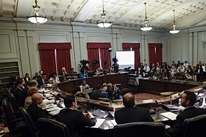 Hearing room at the Statehouse
